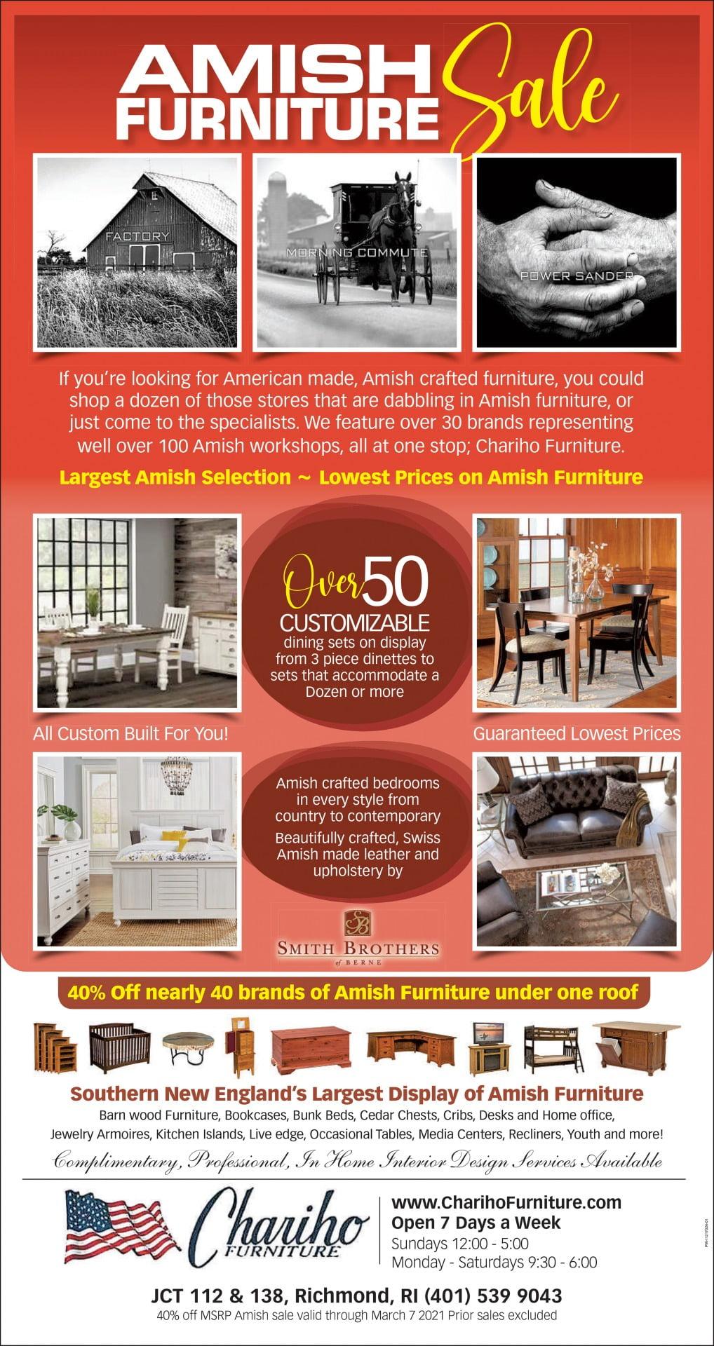 Chariho Furniture Feb 2021 ad
